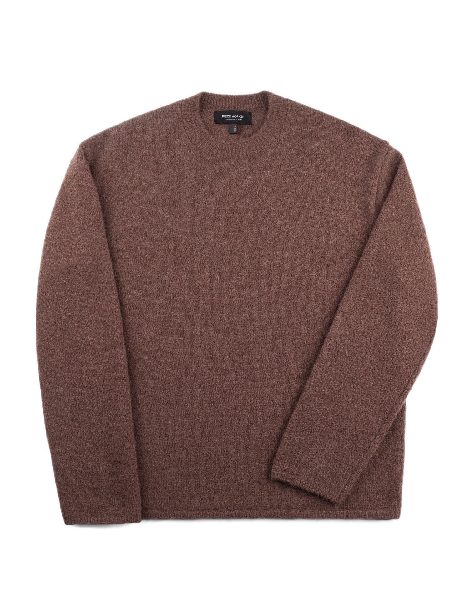 Oversize Alpaca Knit Brown / Over Fit