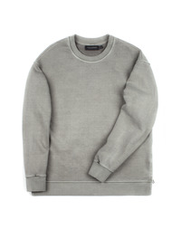 Vintage Heavy Sweat Shirt Khaki Grey / Semiover