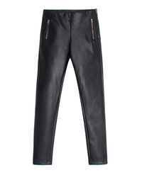 Leather Divide Black / Skinny