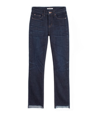 [W]UNBALANCE CUTTED SELVEDGE DARK BLUE / NEW STRAIGHT