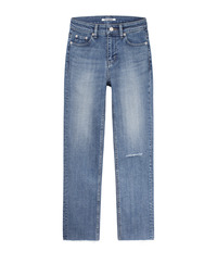[W]STONE WORKER WOMAN GRAY BLUE / REGULAR STRAIGHT