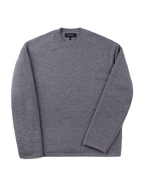 Oversize Alpaca Knit Charcoal / Over Fit