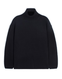 Oversize Neck Knit - Black