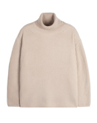 Oversize Neck Knit Beige / Over Fit