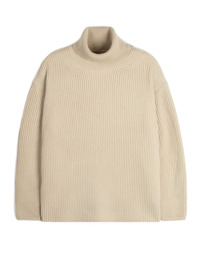 Oversize Neck Knit - Beige
