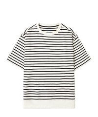 Stripe Shot Sleeve White / Semiover